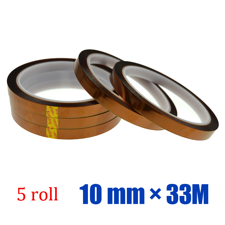 Free shipping 5 roll* 10 mm* 33M Sublimation Paper & Tape Heat Resistant Sublimation Tape for Heat Transfer(China (Mainland))