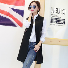 Fashion New 2015 autumn slim long outerwear women's jacket Korean American style vest women camouflage outfit