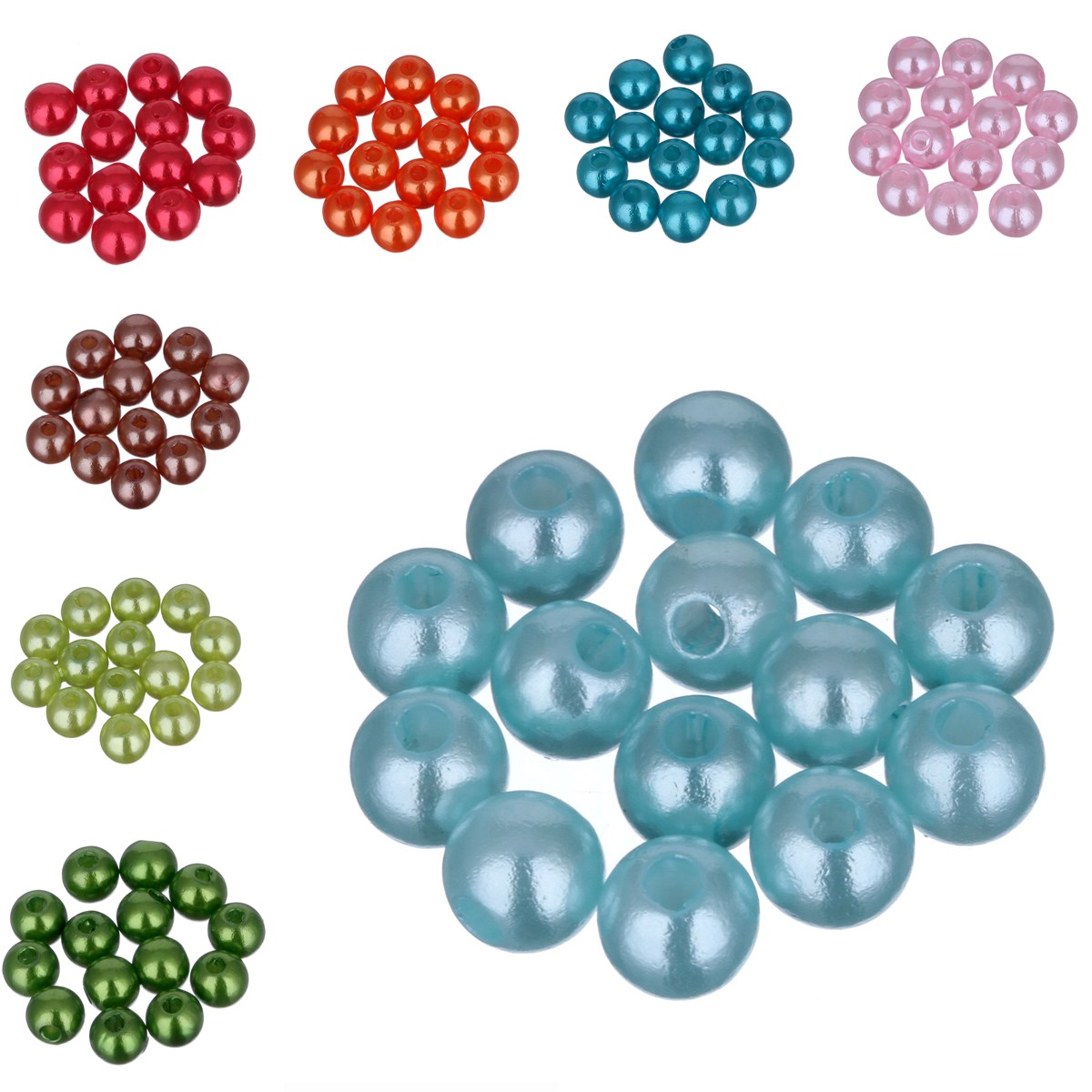 200pcs/lot Cheap 5A Quality! 5MM Mixed Color Fashion Round Acrylic Pearl Spacer Loose Beads DIY Jewelry Making Wholesale(China (Mainland))