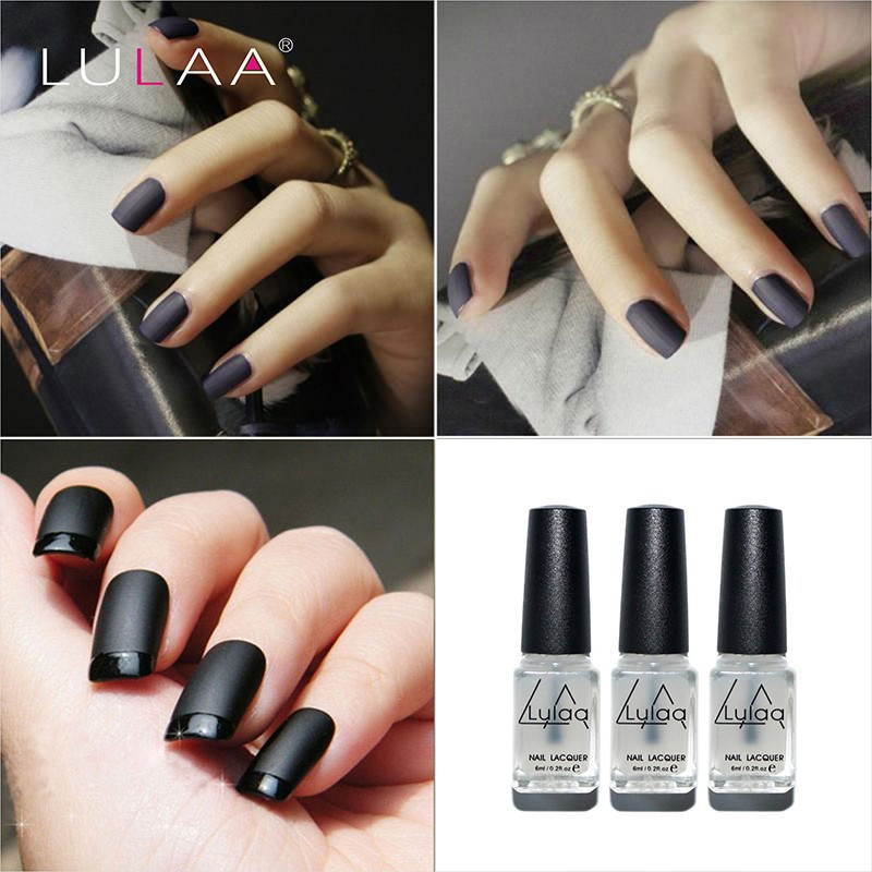LULAA 10 ml Matte Top Nail Art Gel Nail Art Top Tips Gel Top Coat Long-lasting Gel Matte Finish Gel NAIL POLISH(China (Mainland))