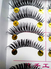 High Quality False Eyelashes Natural Mink Eyelash Extension Fake Eye Lashes Human hair Makeup 40 pairs