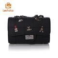 Loshaka 2017 Badge Women Messenger Bags Brand Women leather Bags Chain Summer Shoulder Bag Ladies Mini