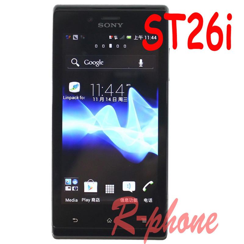 Original Sony Xperia J ST26i ST26 Mobile Phone 3G Wifi Unlocked Android Phone Refurbished(China (Mainland))