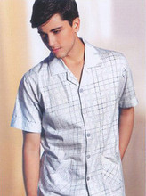 Sleepwear summer new arrival  male 100% cotton knitted z2455 lounge(China (Mainland))