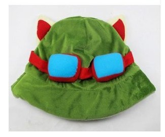 100% NEW Charms Costume LOL Teemo Cosplay Cute Plush Cotton HAT Cap AE01522