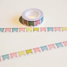 1 x  Colour Flag washi tape DIY decoration scrapbooking planner masking tape adhesive tape kawaii stationery(China (Mainland))