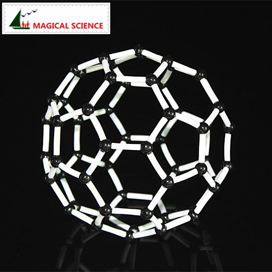 Carbon 60 model Toys 9mm C60 model kits Crystal structure Model Chemistry Molecular Modeling for children kids(China (Mainland))