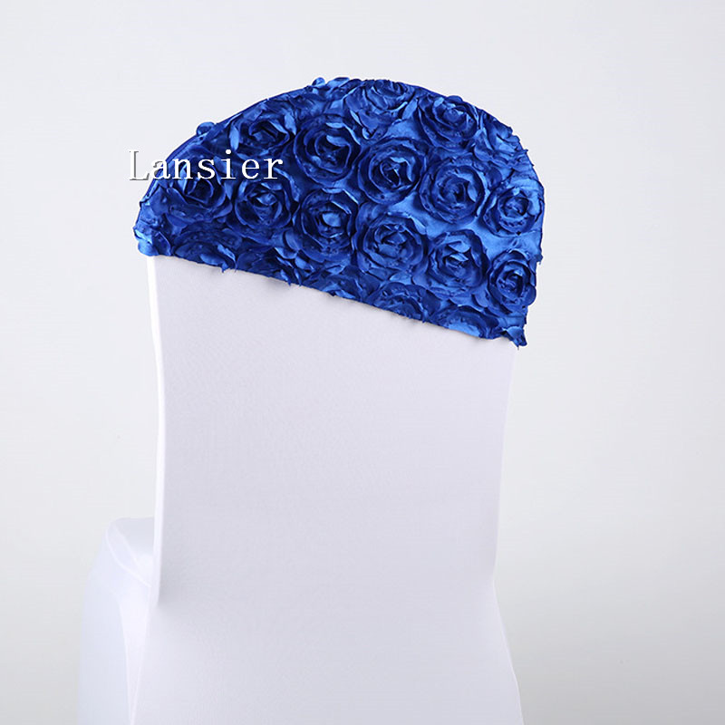 10 pcs a lot new arrival luxury DIY 3 D rose flower wedding chair sashes wedding