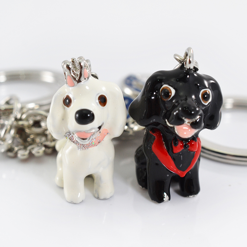 Factory direct sales cartoon key chain pet dog metal key chain fashion pendants gifts wholesale Boston Terrier Border Collie(China (Mainland))