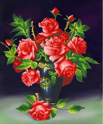 Sala De Estar Cor De Rosa ~ com Compre Novo diamante 5D pintura cor de rosa vaso sala de estar
