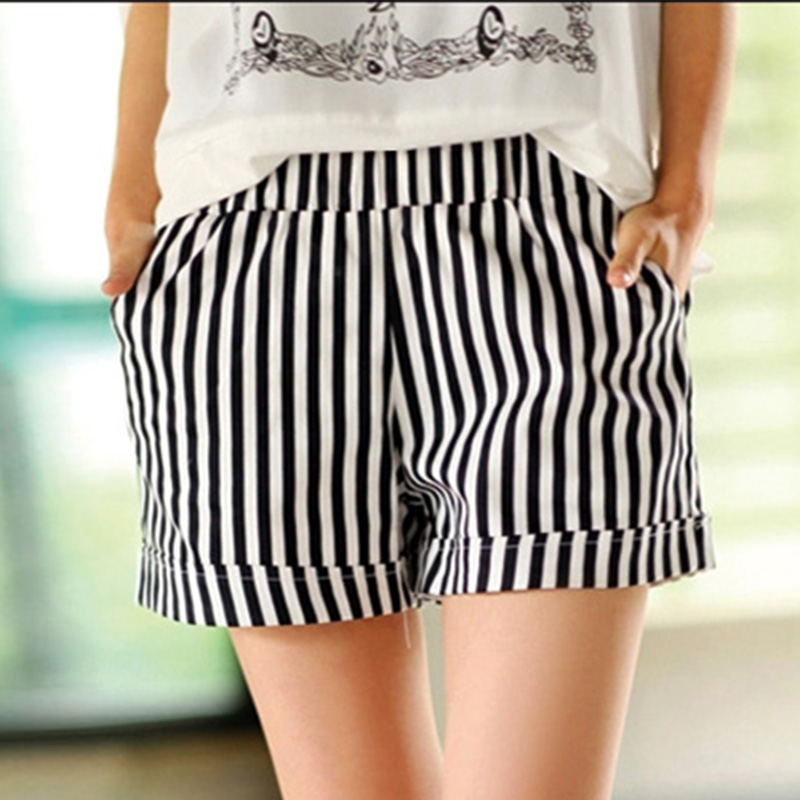 Online Buy Wholesale red and white striped shorts womens from ...