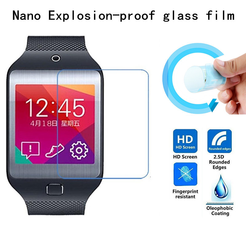 Hight Quality Nano Explosion-proof Soft glass Protective Film for Samsung Galaxy Gear 2 Neo/R381 Screen Protector(China (Mainland))
