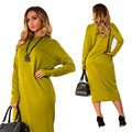 Women Dress 2016 new winter European American fashion big yards dress long sleeved dresses plus size