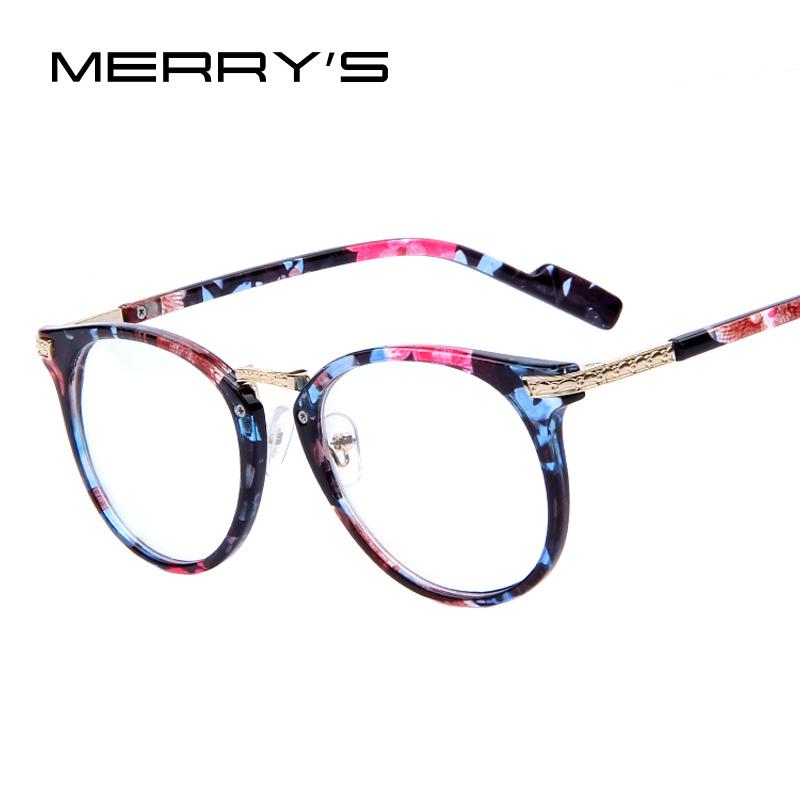 MERRYS Retro Eyeglasses Fashion Round Metal Arm ...