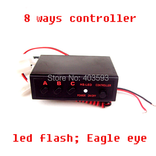 FREE SHIPPING 8 Ways LED Light Flasher Flash Strobe Controller Box<br><br>Aliexpress