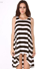 2014 Summer Beach Dress Women's Clothing Cheap Clothes China Sexy Stripe Sleeveless Dress 4 Colors 30