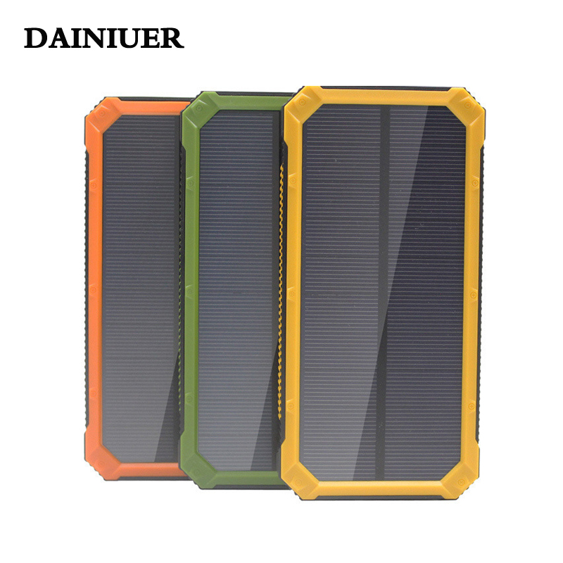 Solar Pover Bank Mobile Phone Power Bank Portable External Sun Cellphone Charger Battery Power Bank 20000 mah Universal(China (Mainland))