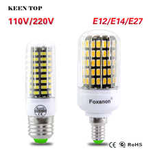 High Luminous E27 E14 E12 5733 SMD LED Corn Bulb 220V 110V 3W 4W 5W 7W 8W 10W Spotlight LED Lamp Candle Light For home Lighting()