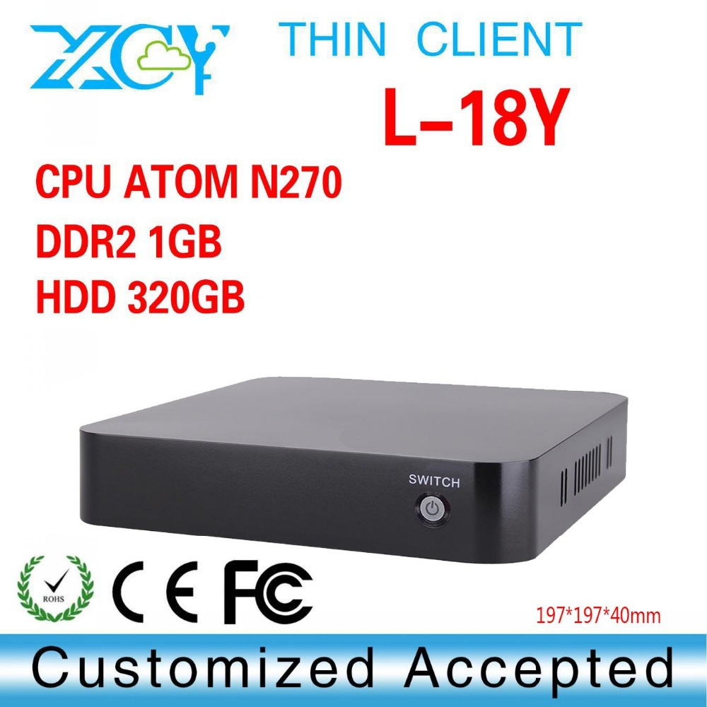 Mini PC Thin Client With Wifi With Fan N270 Desktop Computer Laptop Computer Fanless Thin Client(China (Mainland))