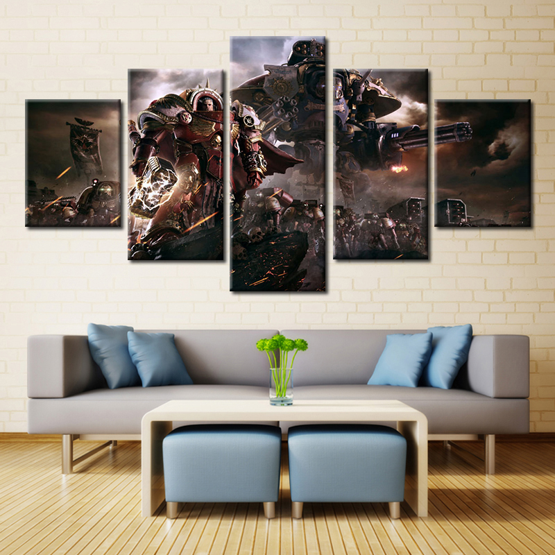 5 Panel Warhammer 40k: Dawn Of War Philippe Boulle Modern Home Wall Decor Canvas Picture Art HD Print Painting On Canvas Artwork(China (Mainland))