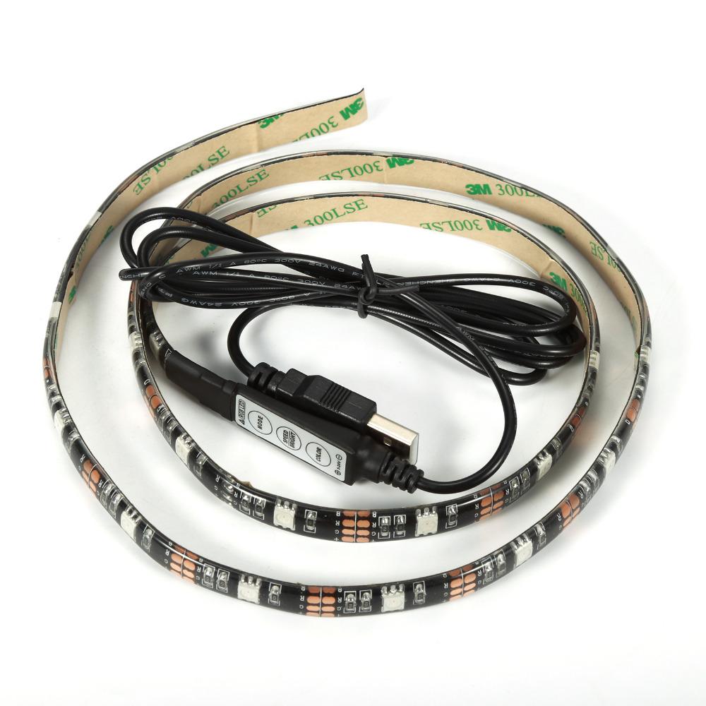 USB Power Supply LED Strip 3528 IP65 Tape DC 5V TV Background Lighting DIY Decorative Lamp(China (Mainland))