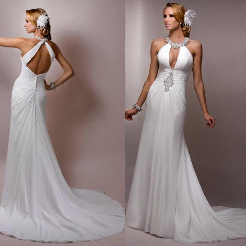 Online Buy Wholesale flowing sexy wedding dress from China flowing ...