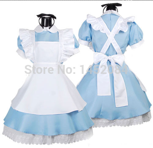 Hot Seller Cosplay Black Butler Ciel/Alice In Wonderland Halloween Party Maid Costume Sexy Lovely Womens Dress Free ShippingОдежда и ак�е��уары<br><br><br>Aliexpress