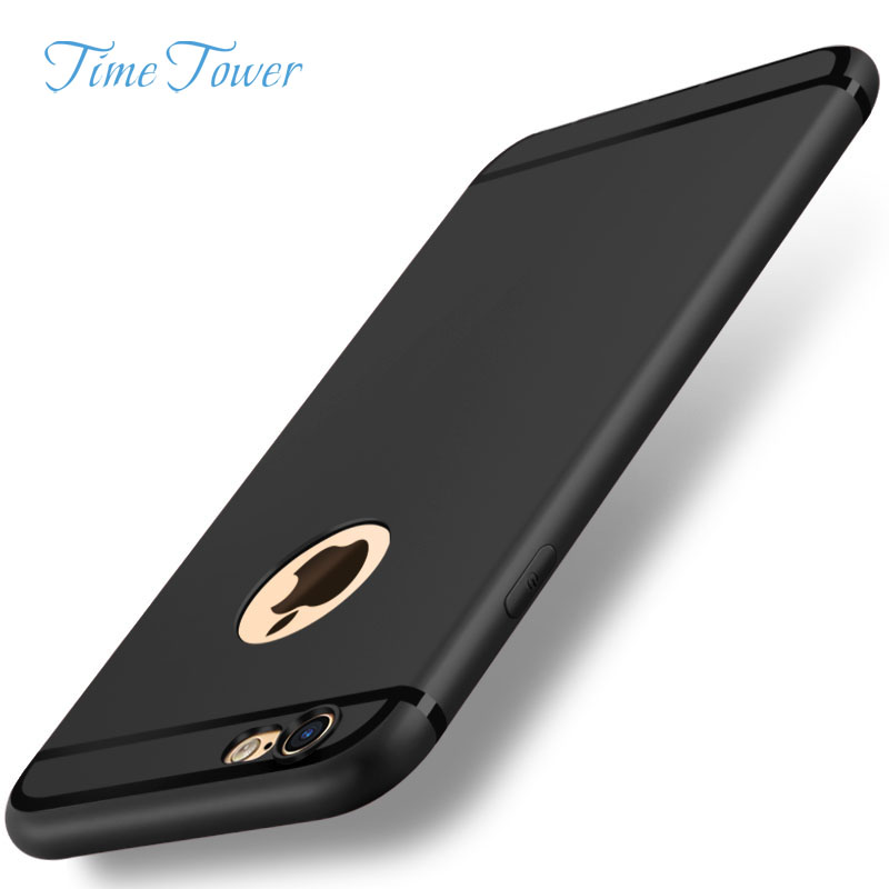 Time Tower Phone Bags & Cases For iPhone 6 Case 5s 5 SE 6s 6 Plus iPhone 7 Cases Plus 360 Full Cover Plastic Phone Cover