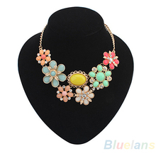 2014 Fashion Women Alloy Bohemian Necklaces  Bib Choker Necklace Short Pendants 00GD(China (Mainland))