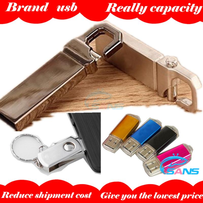 Wholsale 2015 Metal waterproof Usb flash drive 64gb 32gb 128gb Rotation xiao pangzi pen drive Bright pendrive memory stick usb(China (Mainland))