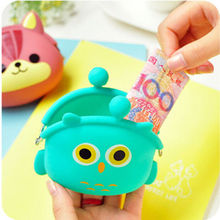 Lovely Women Kids Girls Cute Cartoon Silicone Coin Purse Storage Bags Wallet Bag 2684