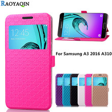 Buy Coque Samsung A3 6 A310 SM-A310F Window Phone Leather Wallet Cover Case Samsung Galaxy A3 3 2016 A310 SM A310F Capa for $2.24 in AliExpress store