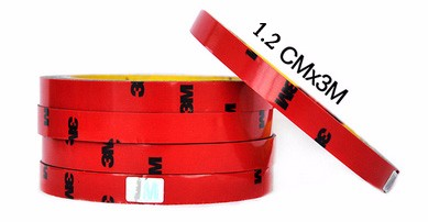 2016 Top Sale Certified 3M Double-sided car motorcycle Tape size 0.6/0.8/1/1.5/2/3cm Chose Long 3 Meter good quality stickiness