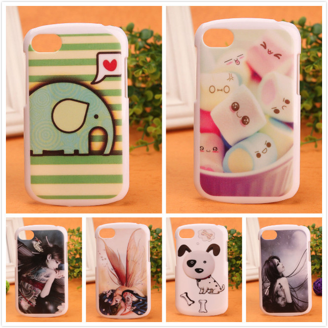 New Arrive Accessory High Quality Cute Cartoon Painted Hard Protection Cover Back Skin Shell Case For BlackBerry Q10 BOWEIKE(China (Mainland))