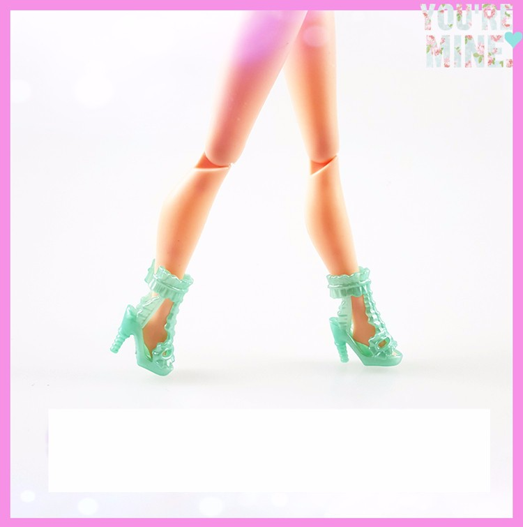 A Lot = 12 Pairs Unique Babie Footwear Excessive High quality Combine Model Combine Colour Footwear Equipment Barbie Doll Wholesale DIY Crystal Footwear