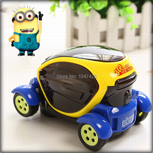 Free Shipping 3D Electronic Universal Cars With Music And Light Model Toys For Children Cute Minions Packaging(China (Mainland))