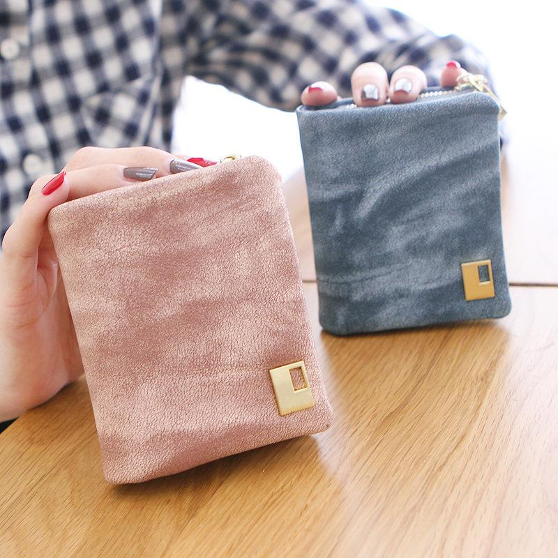 2015 Fashion Women Wallets Korean Envelope Purse Color Leather Women Short Wallets Ladies Small Wallet Zipper Card Holder Bag(China (Mainland))