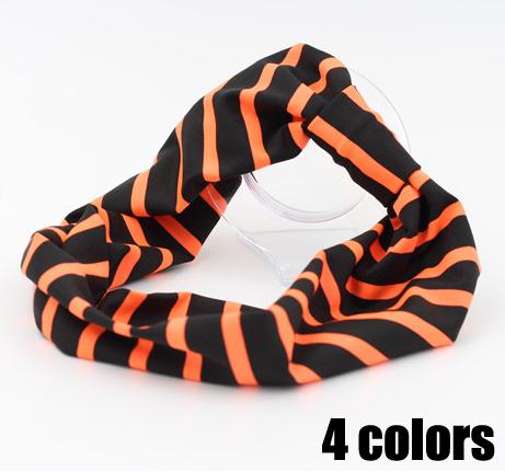 12pcs/lot women lady's elastic twist headband striped active sport yoga bandanas sweat headwrap(China (Mainland))