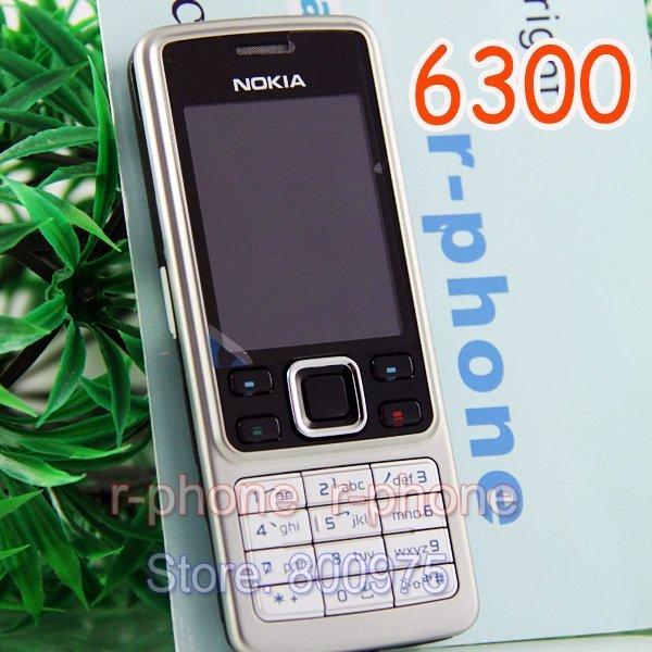Original Nokia 6300 Mobile Phone Unlocked Bluetooth Camera & English Arabic Russian keyboard