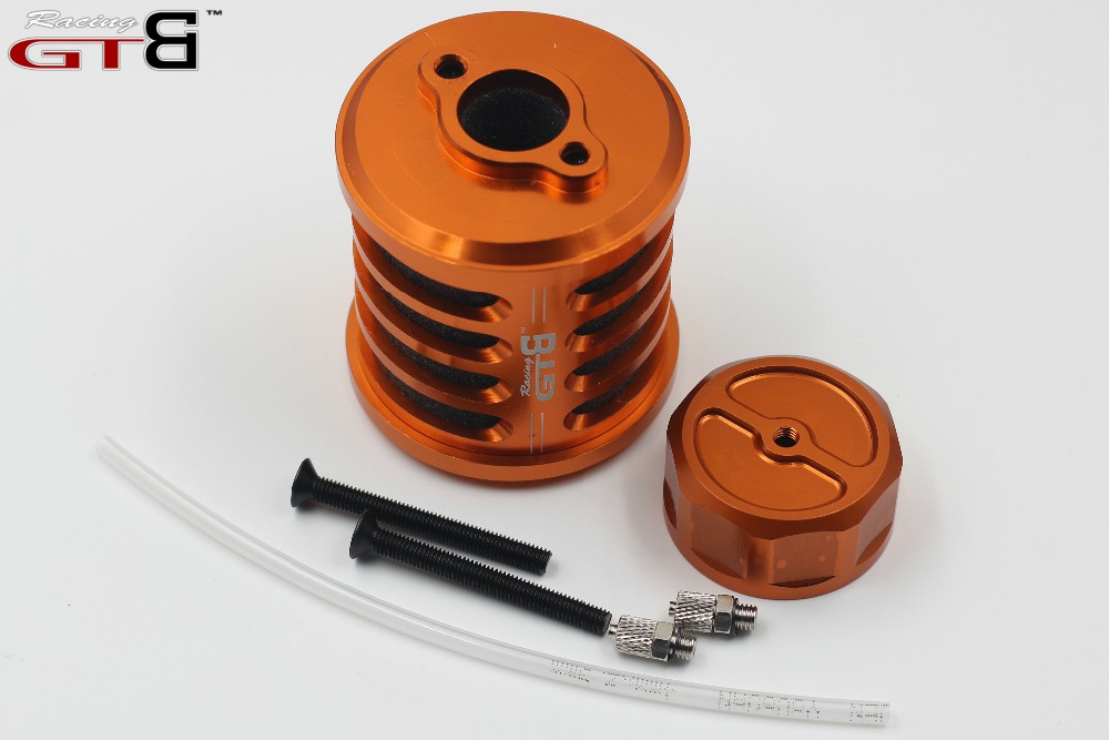 GTBracing RCSQUARE Alloy Air Filter kit with gas cap for HPI KM Roven Baja 5B 5T SS