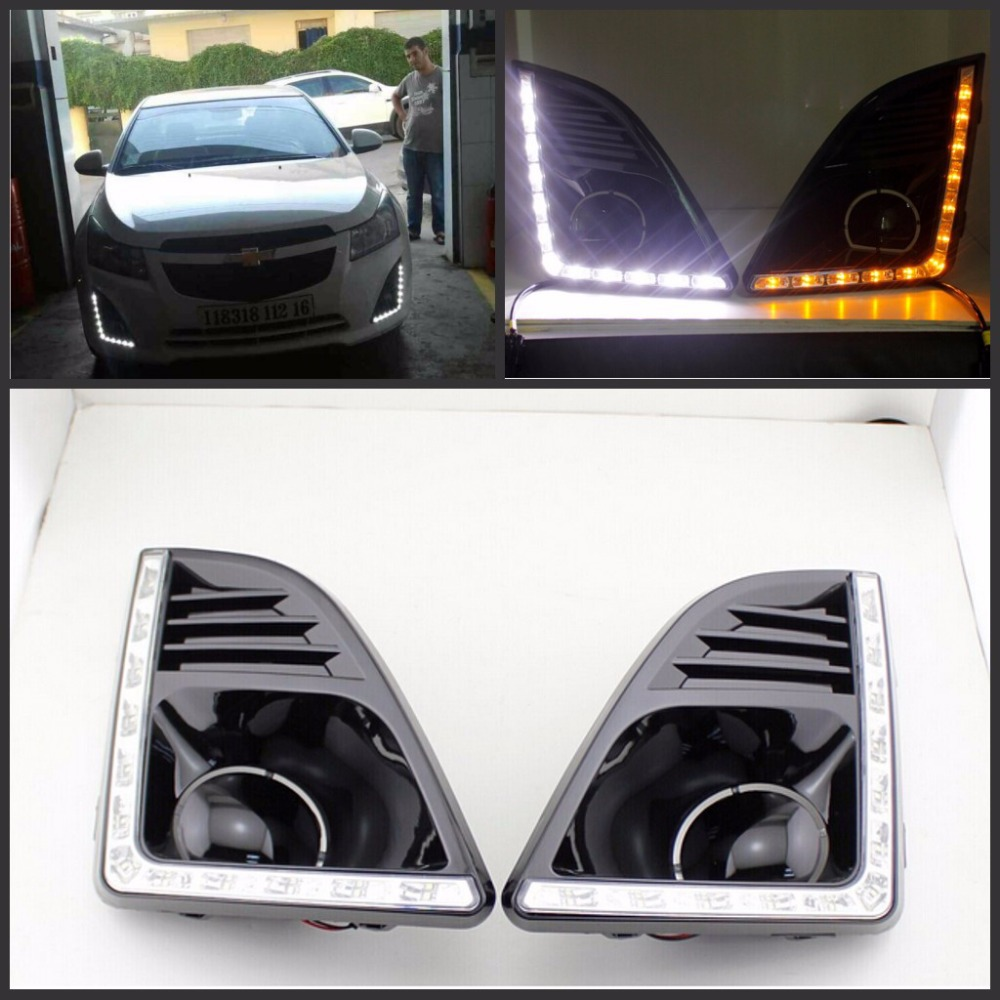 Turn off Style Relay 12V LED Car DRL Daytime Running Lights with Fog Lamp Hole for Chevrolet Cruze 2013 2014 2015 Free Shipping<br><br>Aliexpress