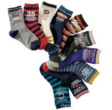 size 15-19  19-23 new English digital socks,  Children socks,  Cotton socks 10 colors /lot(China (Mainland))