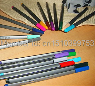 0.4 Mm 24 Colors Fineliner Pens drawing Super Fine Draw (not Stabilo Point 88) Marker Water Based fabric Ink finecolour(China (Mainland))