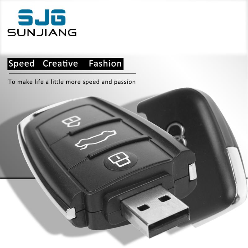 Real Capacity Audi Car Key USB Flash Drive 8GB 16G 32G 64GB Pendrive Memory Stick Pen Drive memoria usb U Disk 4GB cool Gift(China (Mainland))