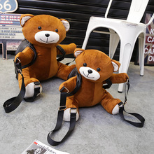 HOT-selling2016 Women/Girls Fashion Leather Backpack Plush Teddy Bear Backpack/School bag fmous brand leisure small backpack bag(China (Mainland))