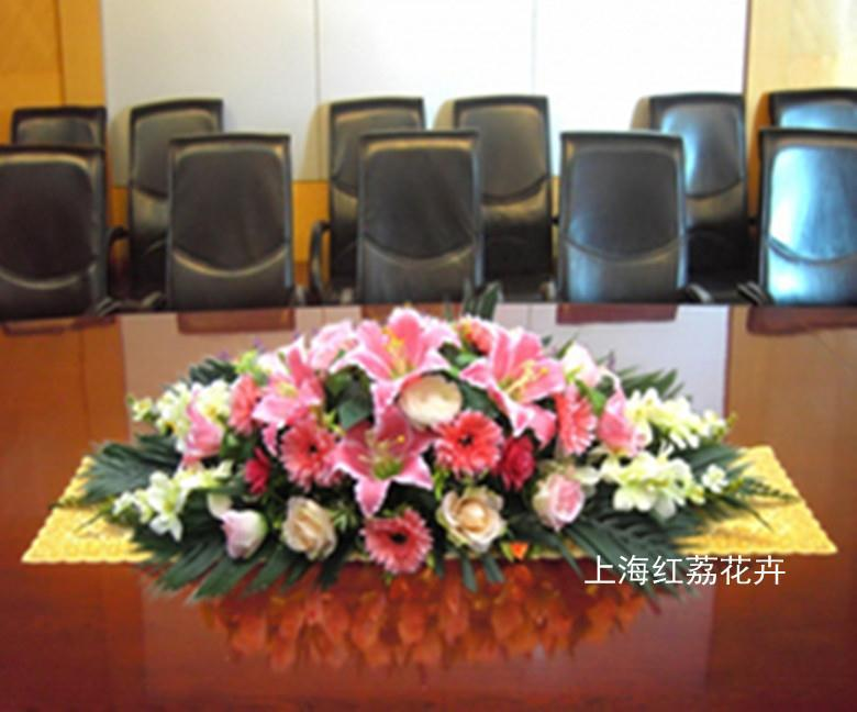 Wholesale -made dining table conference table podium desk potted flower tea machine simulation Lily Rose flower suits(China (Mainland))