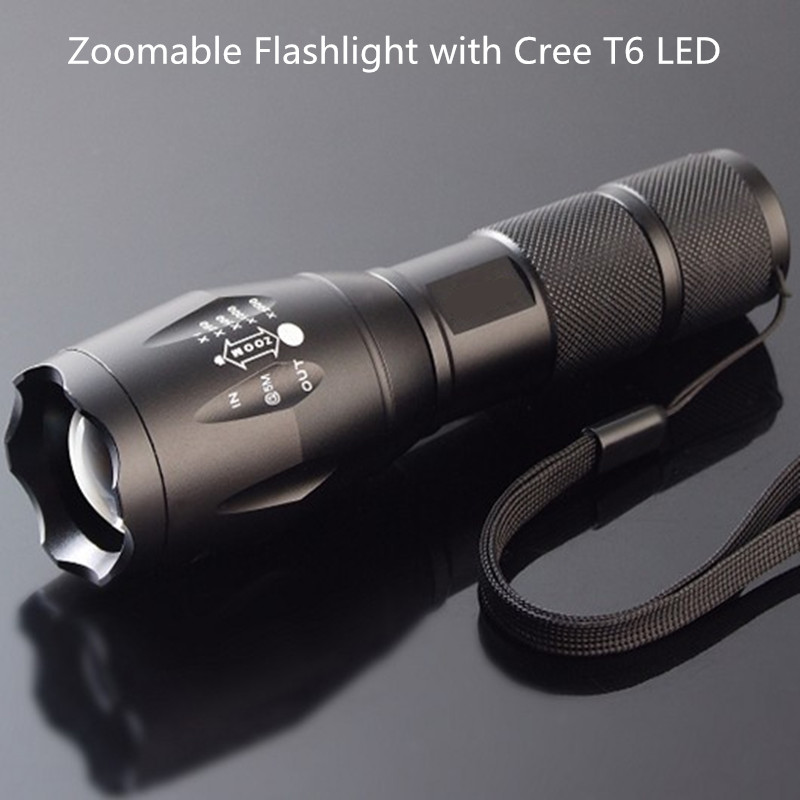 Cree XML T6 1000LM Tactical led Torch Zoomable LED Flashlight TorchLight Waterproof Lanterna Bike Camp by AAA or 18650 battery(China (Mainland))