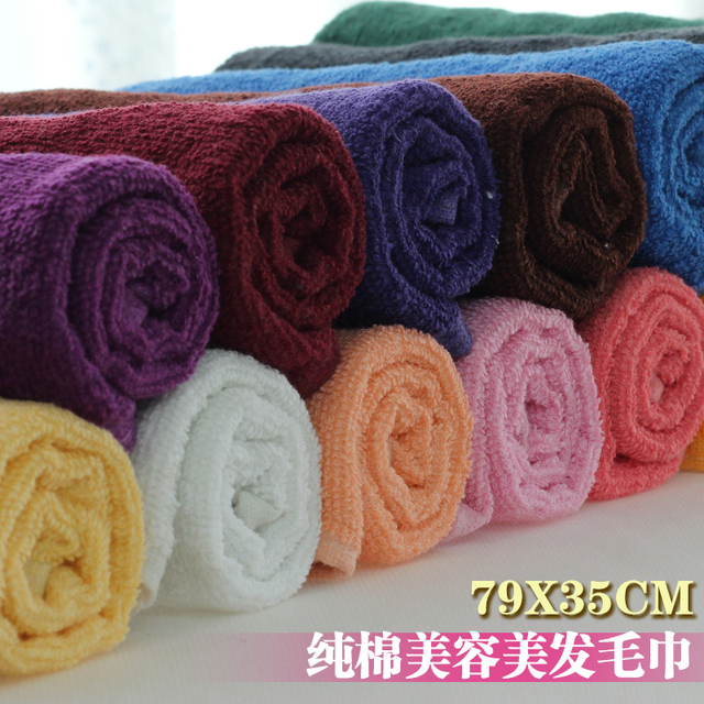 P1200 100% cotton towel dry hair towel beauty salon supplies toe cap covering towel  weight:85g