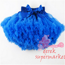 Girls Tutu Skirt Fluffy Solid Color Dance Wear Chiffon Pettiskirt  For 1-10 Years