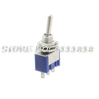 5 Pcs AC 125V 6A 3 Pins ON/ON 2 Position SPDT Miniature Latching Toggle Switch(China (Mainland))
